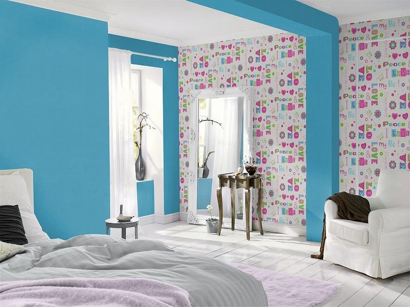 Dinamiškesnis vaikų kambario sienų variantas. Rasch collection