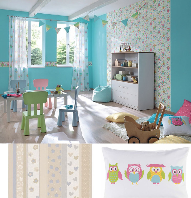Vaikų kambario dekoras – skaidrus ir lengvas kaip vaikystė. Rasch collection.